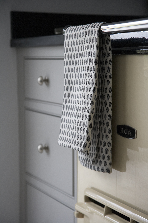 Classic Contemporary Victorian Kitchen Extension | Cream 2 oven Aga & Tori Murphy Tea-towel.