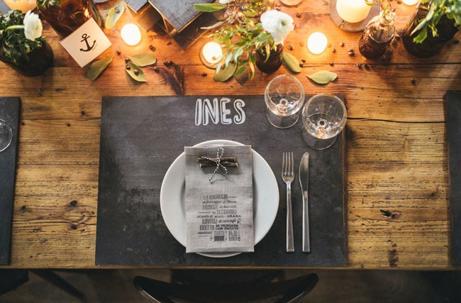 Italian Osteria Wedding Inspiration - Table Styling - Humphrey Munson Blog 3