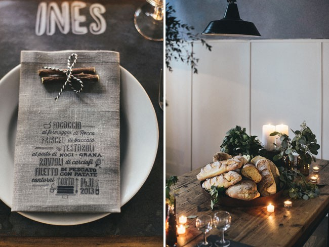 Italian Osteria Wedding Inspiration - Table Styling - Humphrey Munson Blog 4