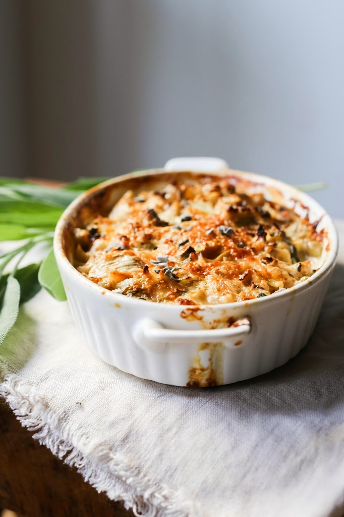 Cauliflower Gratin with Sage and Bacon - Pinterest Recipes To Try - Humphrey Munson
