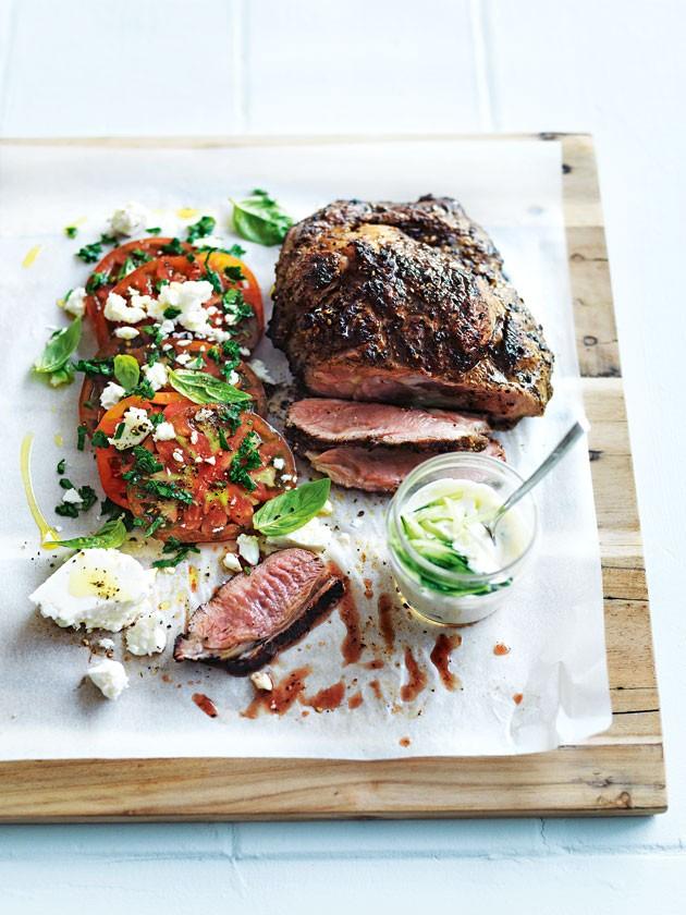 Char Grilled Lamb Should with Tomato and Feta Salad - Humphrey Munson Blog
