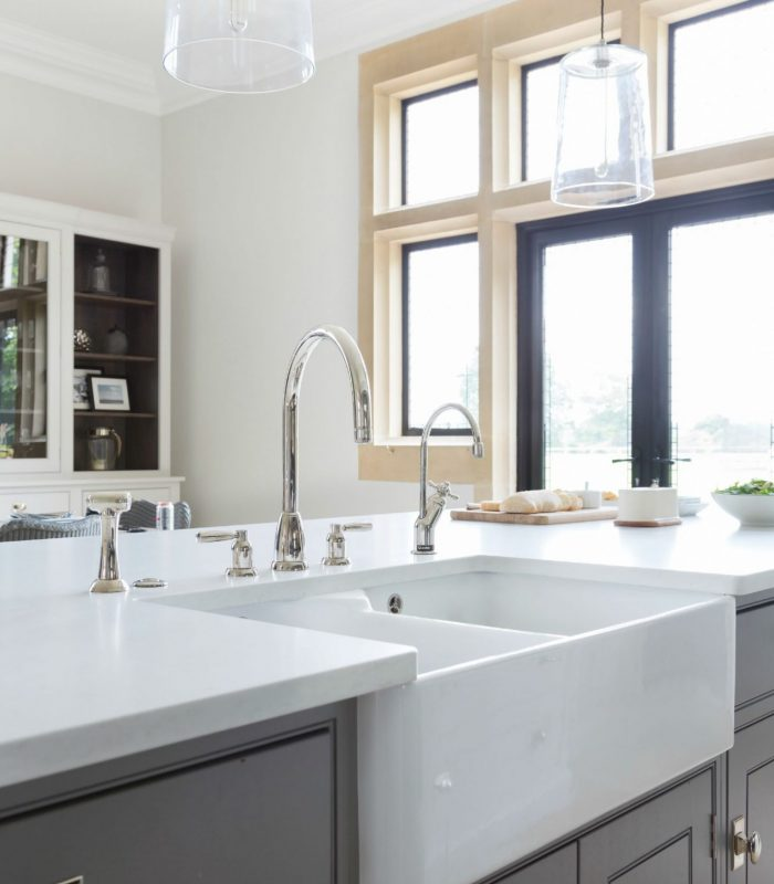 Villeroy and Boch Double Butler Sink with Perrin and Rowe tap and Quooker - Humphrey Munson