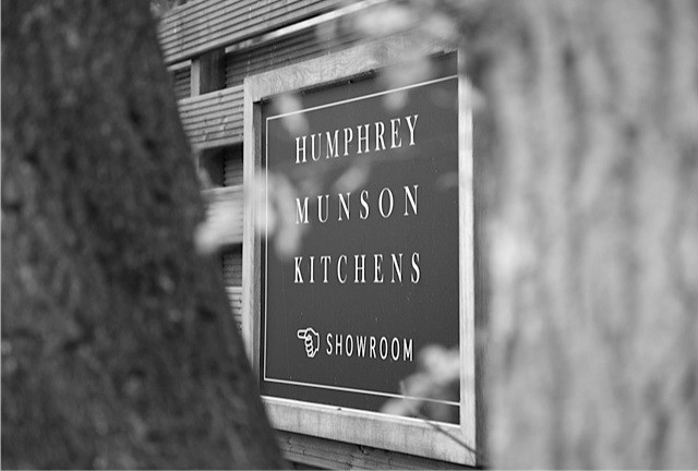 Humphrey Munson Sign - Felsted, Essex - Black and White