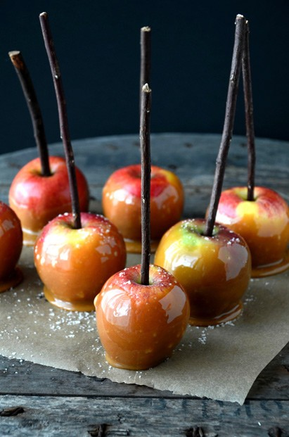 Taking toffee apples to the next level, these salted caramel apples ...