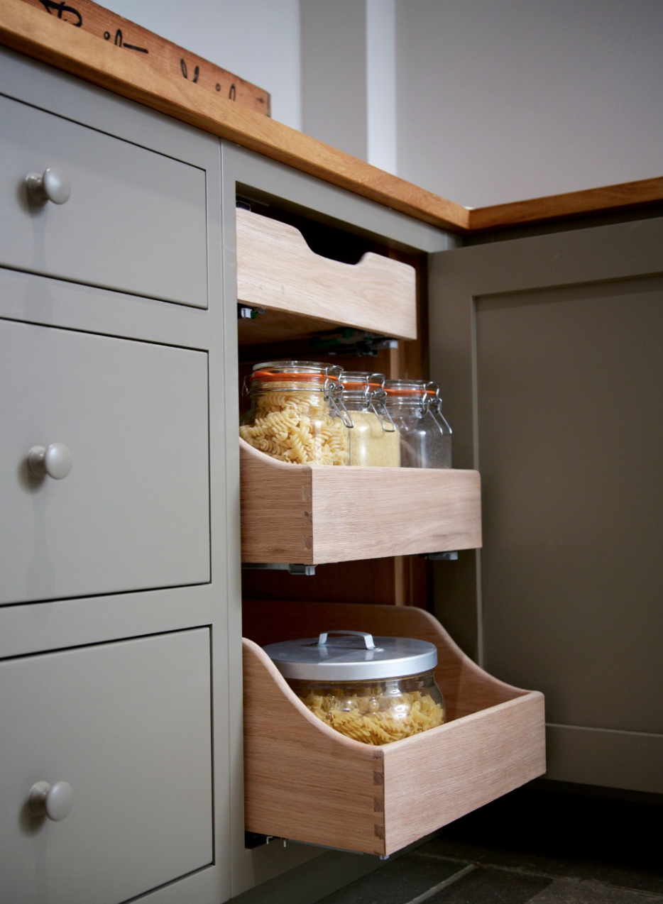 Additional Kitchen Storage Open Shelving