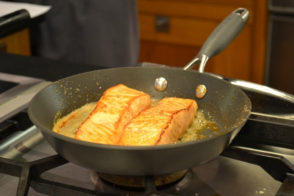Cooking with Gaggenau - Raymond Blanc Cooker School - Humphrey Munson Blog - Recipes - Salmon Champagne Sauce