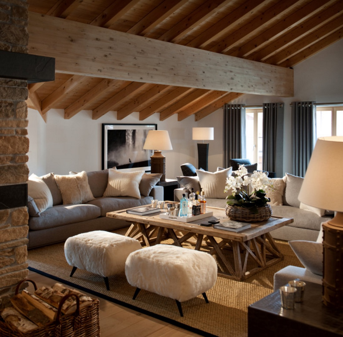 The penthouse at haus alpina klosters for Home decorating company