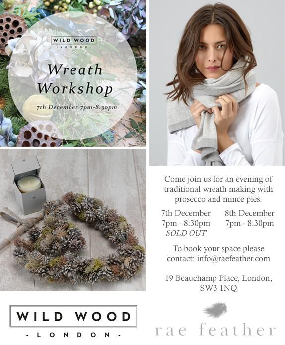 Wreath Workshop - Wild Wood London - Humphrey Munson Blog 1
