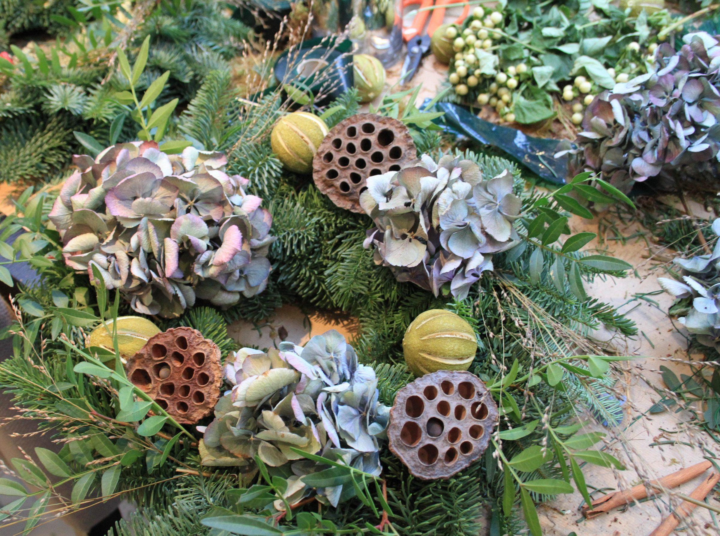 Wreath Workshop - Wild Wood London - Humphrey Munson Blog 4