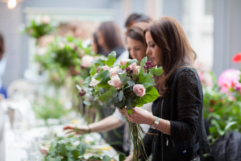 Wild Wood London - Bouquet Workshop - Humphrey Munson Blog 7