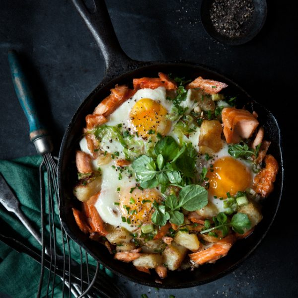 Breakfast Eggs with Smoked Flaky Trout and White Cabbage - What Katie Ate - Humphrey Munson BLog - Easter Lunch