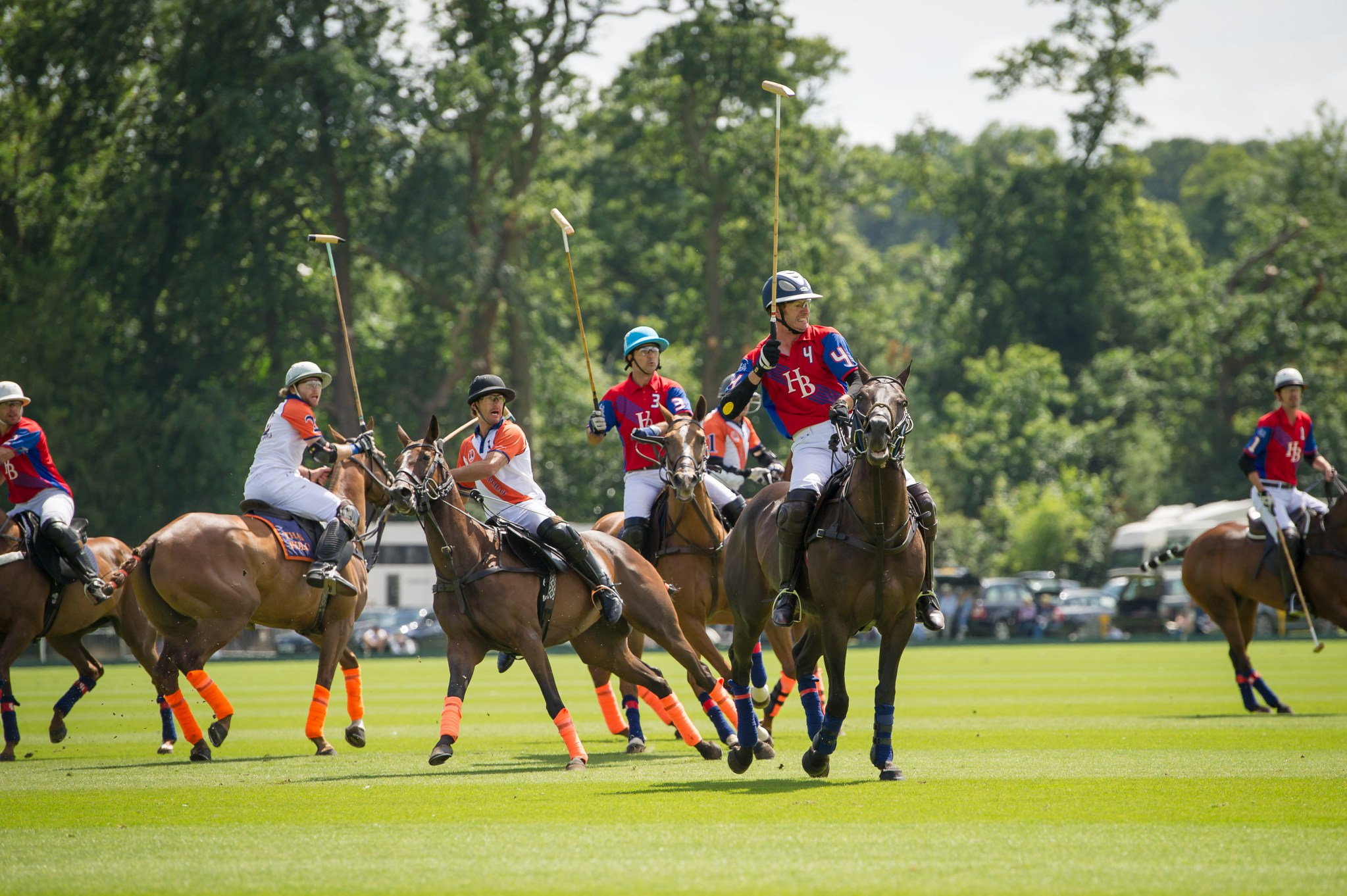 HB Polo & Thai Polo team competing at The Jaeger-LeCoultre Gold Cup for the British Polo Championships at Cowdray Park Polo Club