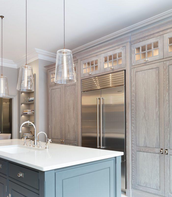 Contemporary Urban Kitchen St Albans: Sub-Zero French Door Over-And-Under Refrigerator / Freezer