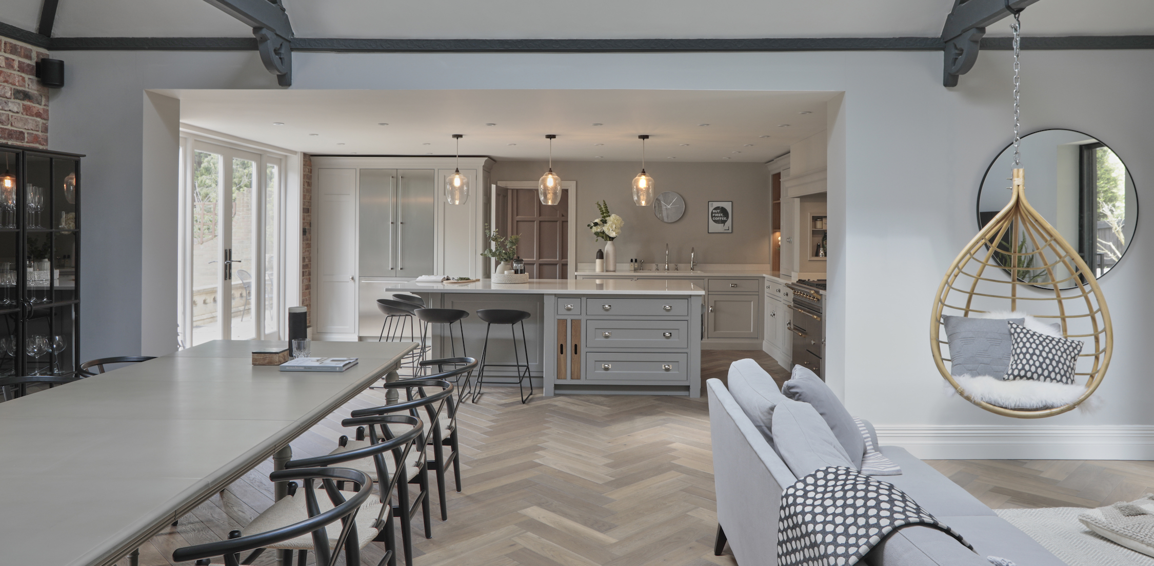 The Open Plan Living And Dining Areas Were Designed By Cherie Lee Interiors An Interior Design Consultancy Based In Hertfordshire London