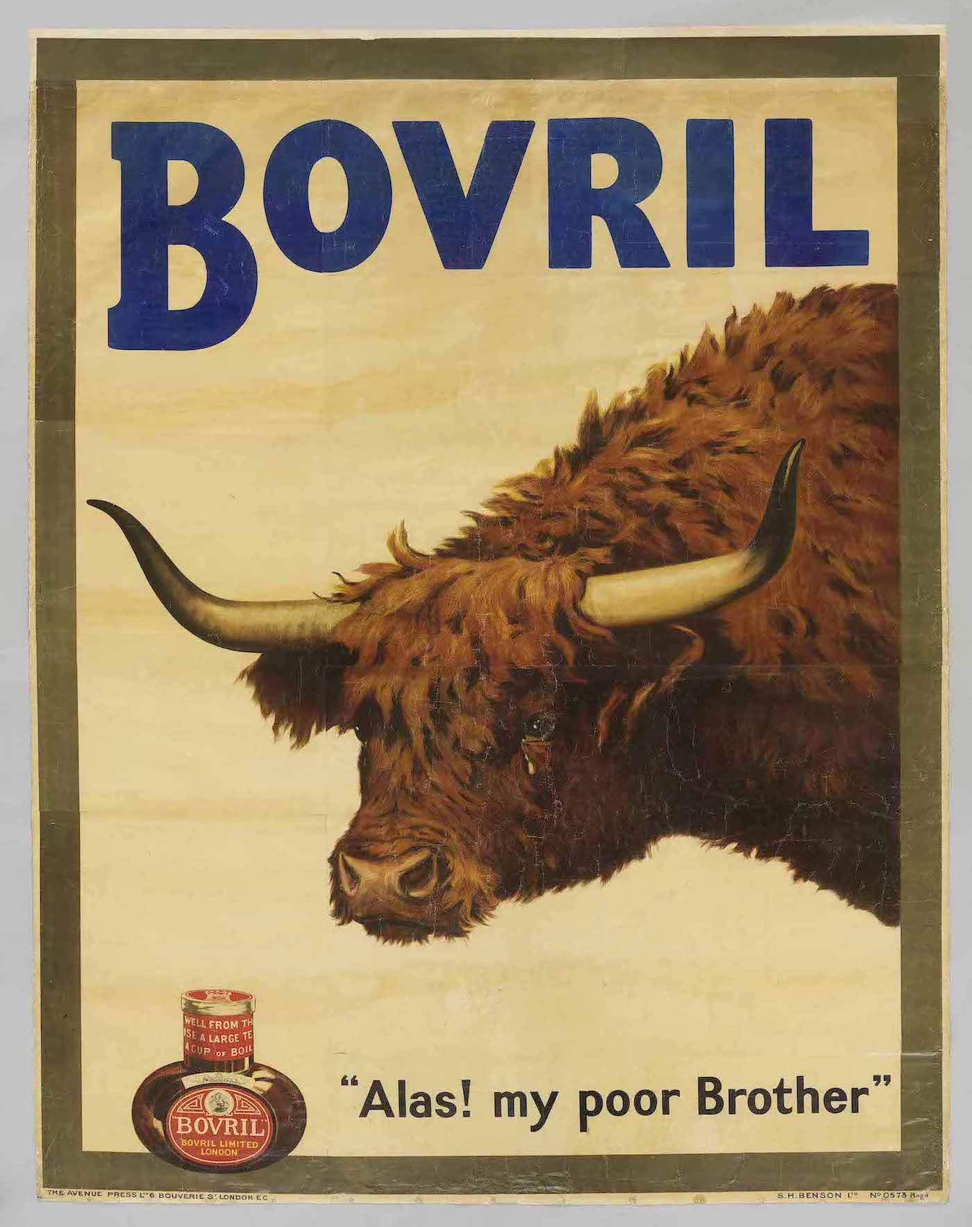 """Alas! My poor Brother"", poster by W.H. Caffyn advertising Bovril. Great Britain, 1905."