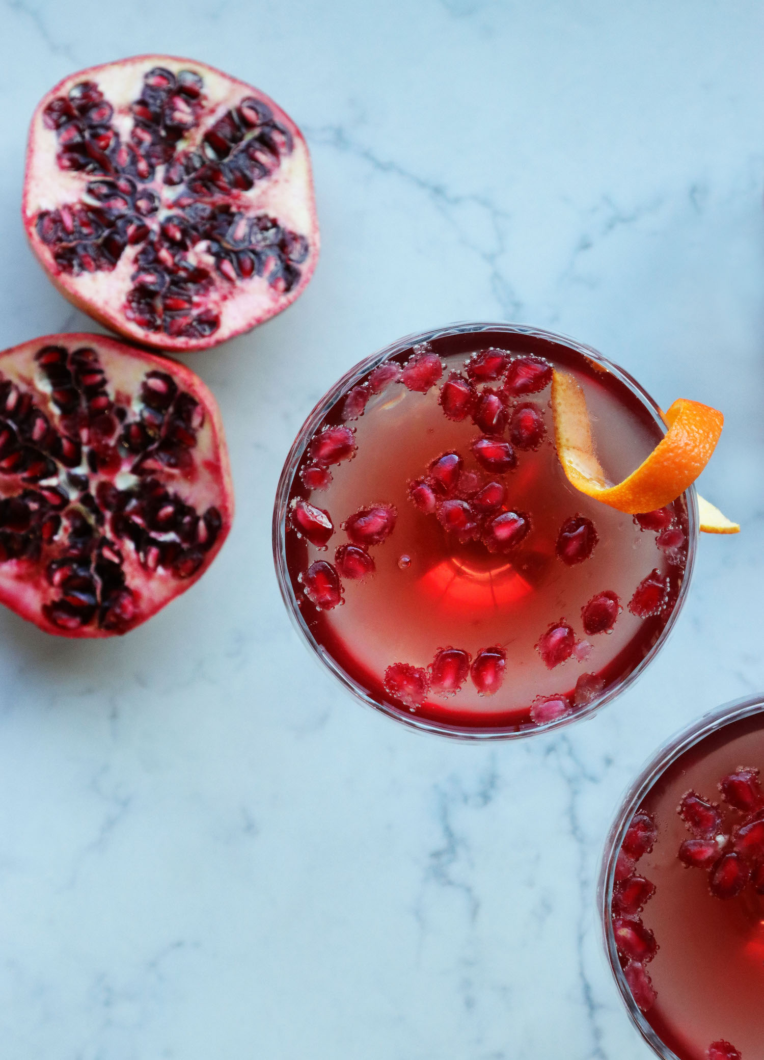 Recipe Notes | Pomegranate Champagne Cocktail - Humphrey Munson Blog