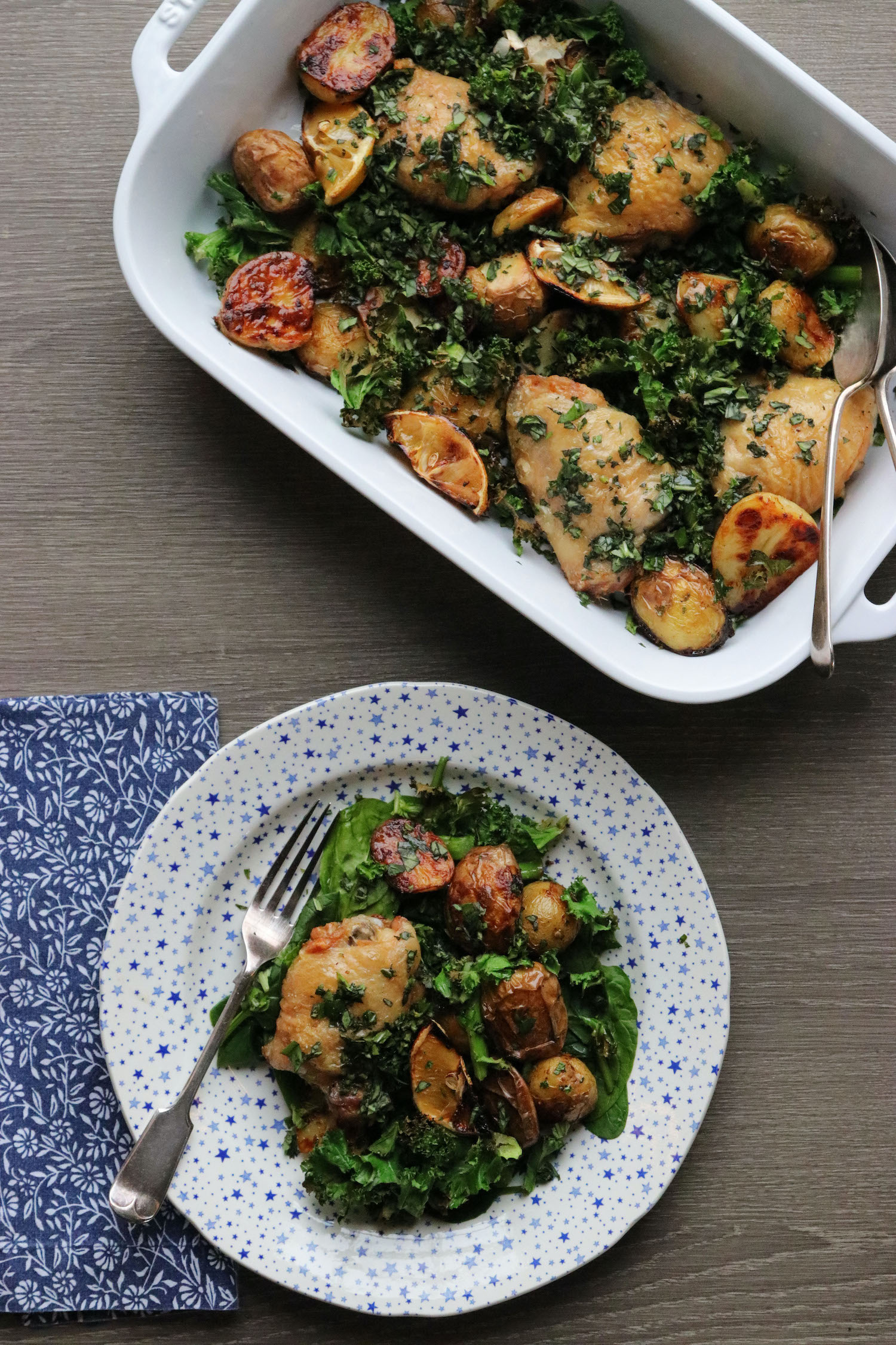 Chicken & Potato Traybake - Staub - Burleigh x Ralph Lauren - Recipe Notes - Humphrey Munson