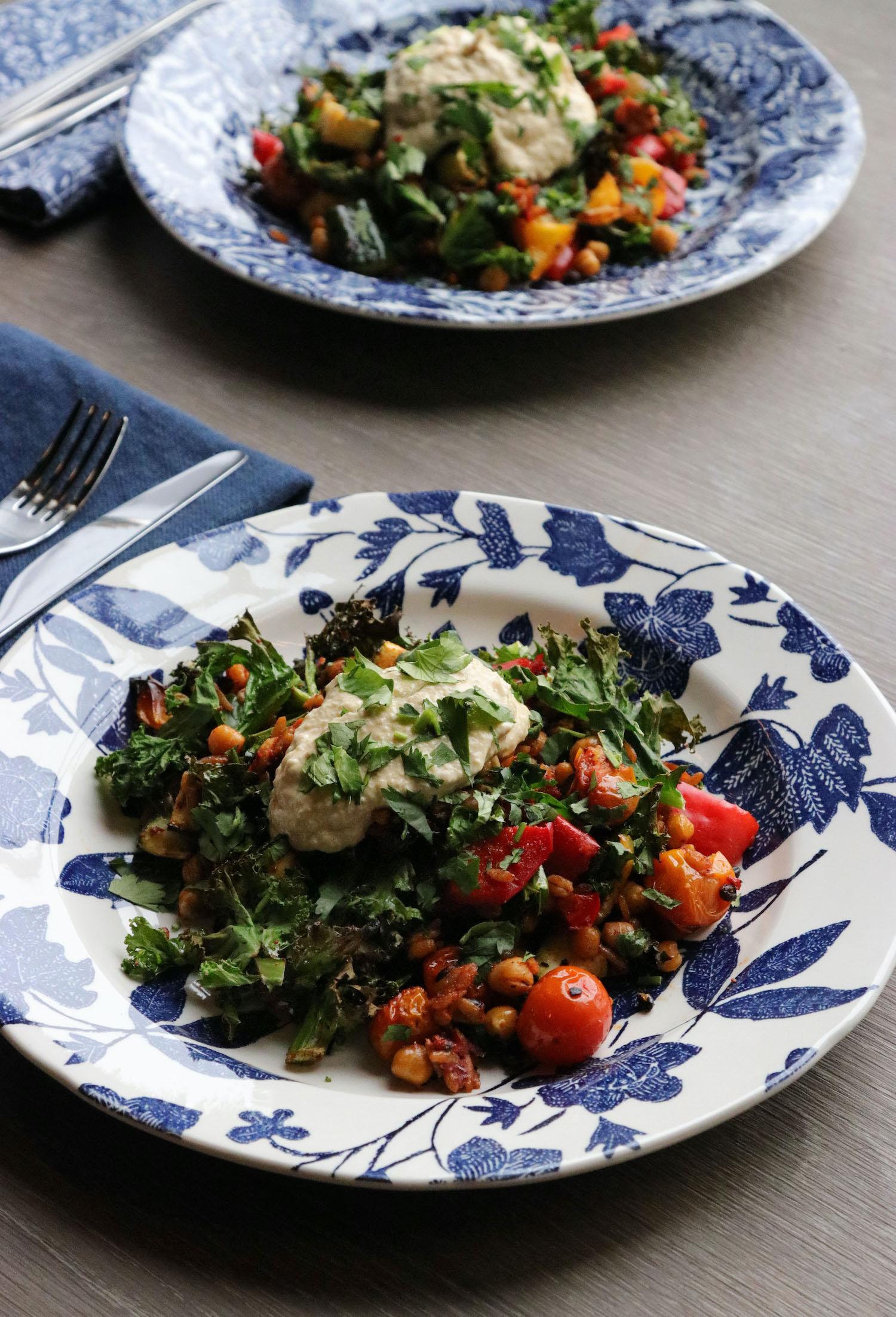 Vegan Chickpea & MediterraneanVeg Bake - Recipe Notes - Burleigh X Ralph Lauren - Humphrey Munson Blog