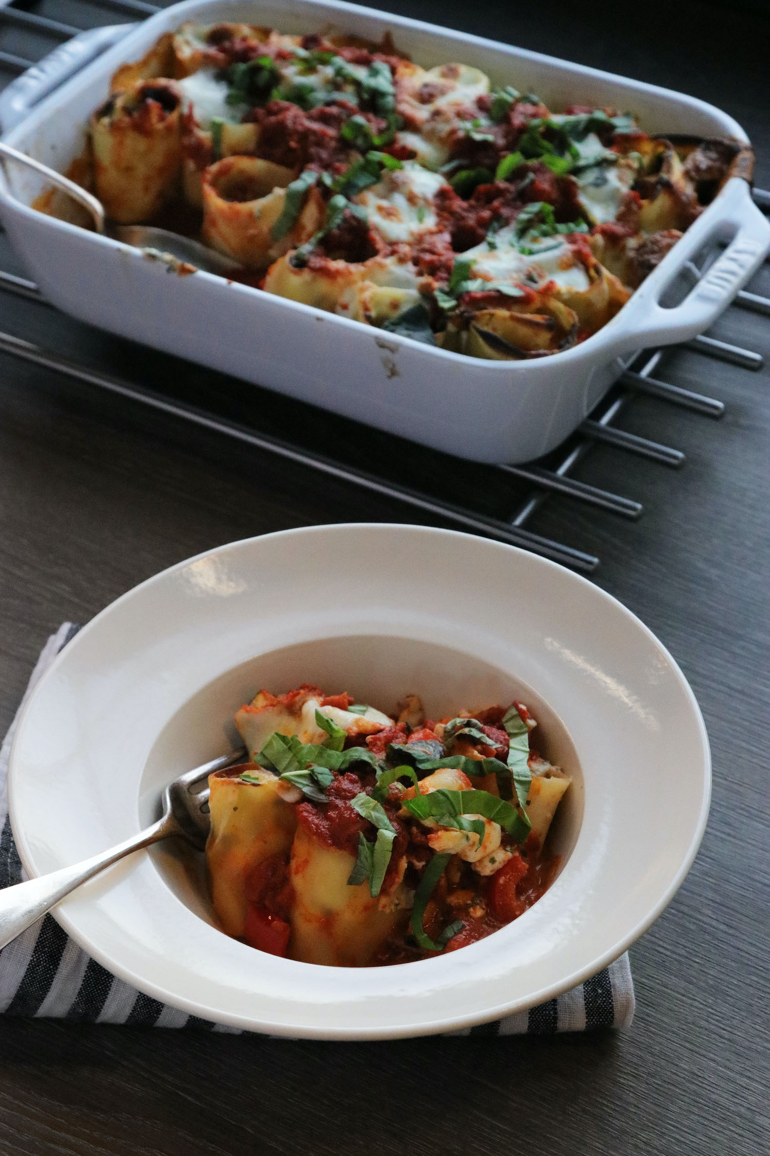 Veggie Lasagne Pasta Roll Ups - recipe notes - Humphrey Munson Blog