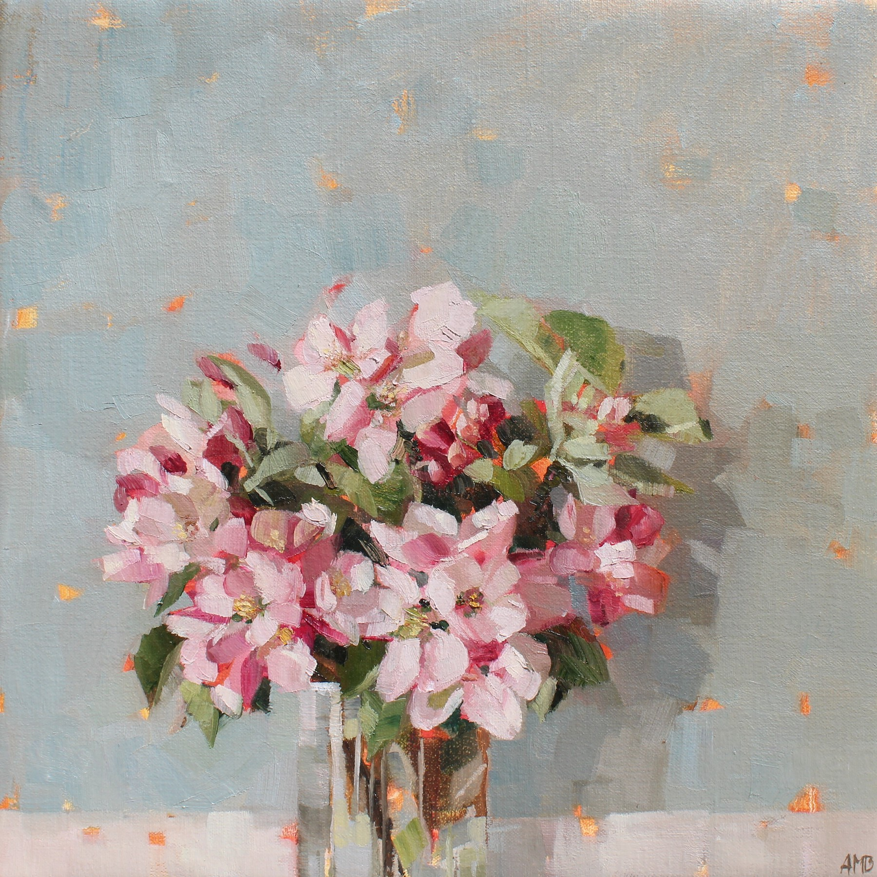 Apple Blossom - Anne-Marie Q&A - Oil painting - Humphrey Munson Blog