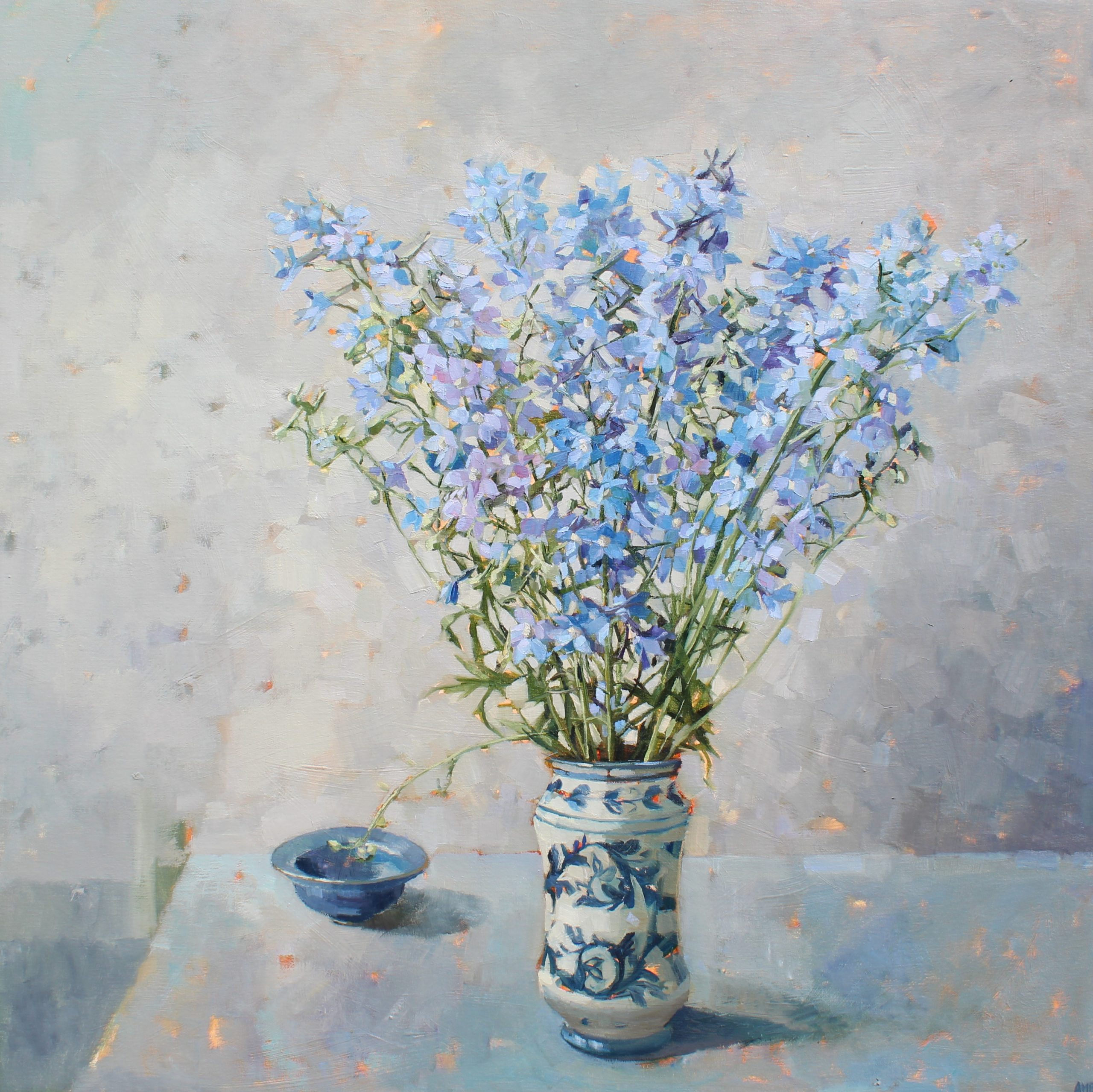 Blue Delphiniums - Anne- Marie Q&A - Humphrey Munson Blog
