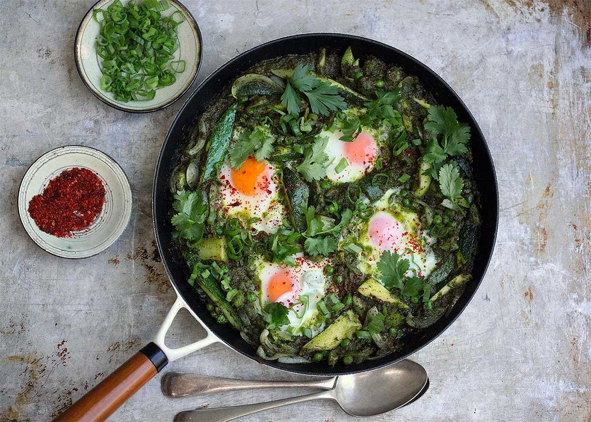 Amelia Freer's 10 recipes for nourishing your body this January - Shakshuka - Humphrey Munson